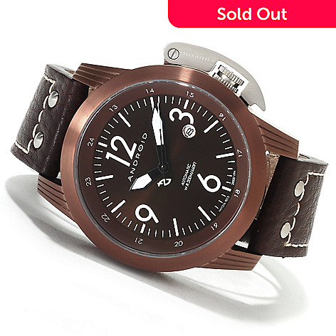 622-427 - Android Men's Skyguardian 9015 Automatic Leather Strap Watch