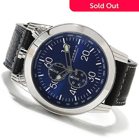 622-431 - Android 48mm Dynamic Quartz Chronograph Leather Strap Watch