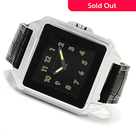 622-436 - Android Men's Galactopus Digital Touchscreen Leather Strap Watch