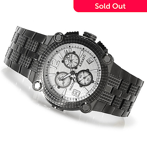 622-442 - Renato 46mm Vulcan Swiss Quartz Chronograph Stainless Steel Bracelet Watch