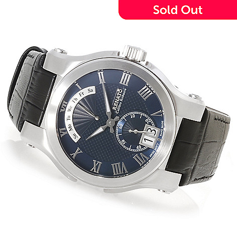 622-448 - Renato Men's Calibre Robusta Classic Swiss Quartz Leather Strap Watch