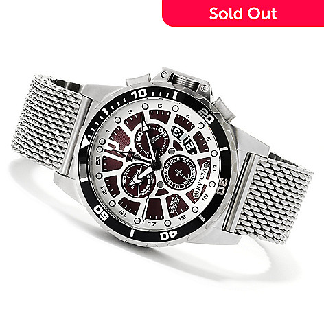 622-484 - Invicta Men's Corduba Quartz GMT Alarm Mesh Stainless Steel Bracelet Watch