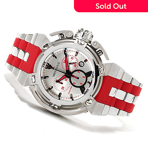 622-495 - Imperious 46mm X-Wing Swiss Made Quartz Chronograph Stainless Steel Bracelet Watch