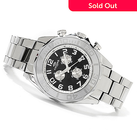 622-537 - Oniss Men's Executive Quartz Chronograph Tungsten Bracelet Watch