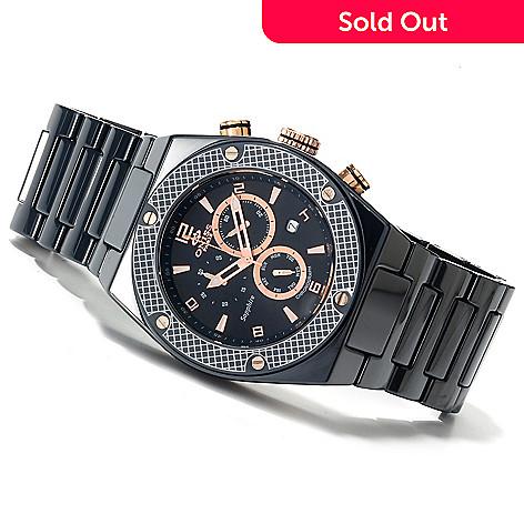 622-538 - Oniss Men's Torque Swiss Quartz Chronograph Ceramic Bracelet Watch
