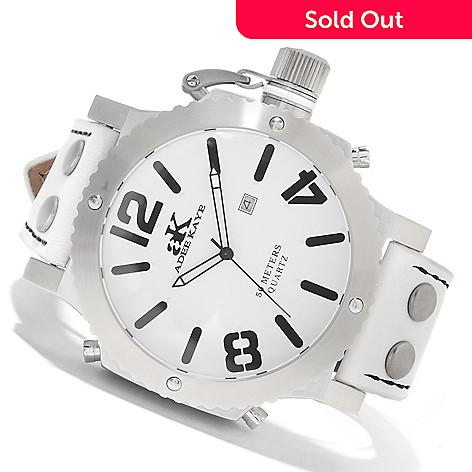 622-541 - Adee Kaye Men's Mondo G2 Quartz Stainless Steel Leather Strap Watch