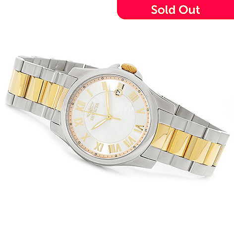 622-617 - Invicta Women's Angel Quartz Mother-of-Pearl Bracelet Watch w/ Travel Box