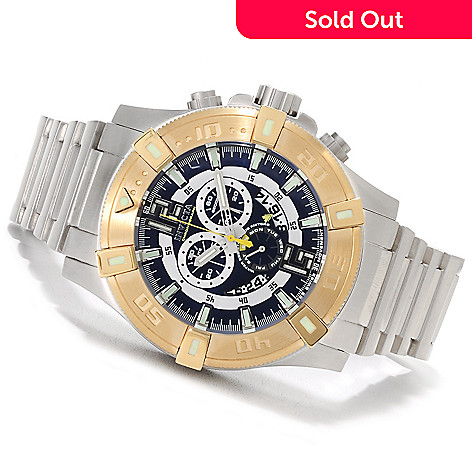 622-619 - Invicta Men's Luminary Tritium Swiss Chronograph Stainless Steel Bracelet Watch