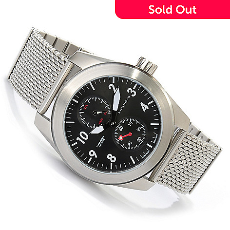 622-630 - Android Men's Skyguardian Automatic Power Reserve Stainless Steel Bracelet Watch