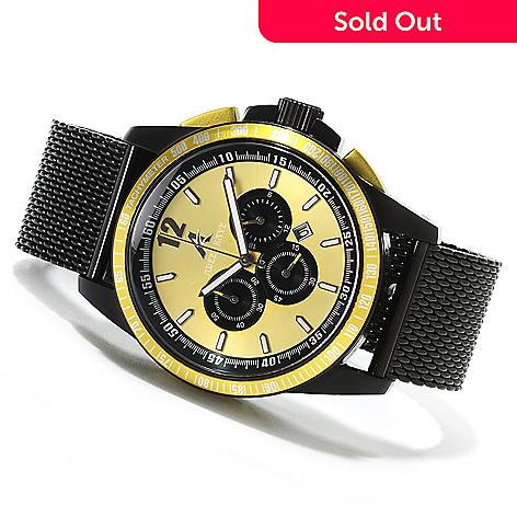 622-661 - Adee Kaye Men's Terrace Quartz Chronograph Mesh Stainless Steel Bracelet Watch