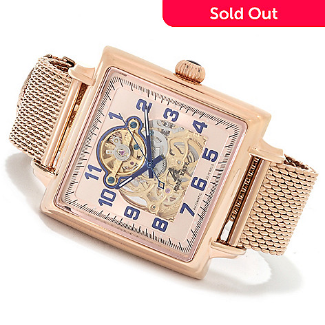 622-666 - Adee Kaye Men's Elegant Automatic Stainless Steel Mesh Bracelet Watch