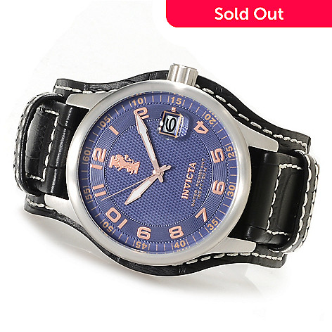 622-674 - Invicta Men's I Force Quartz Stainless Steel Case Leather Strap Watch