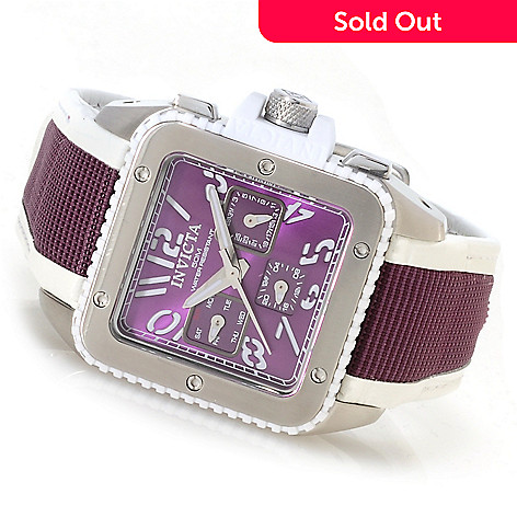 622-679 - Invicta Women's Cuadro Quartz Stainless Steel Leather Strap Watch w/Travel Box