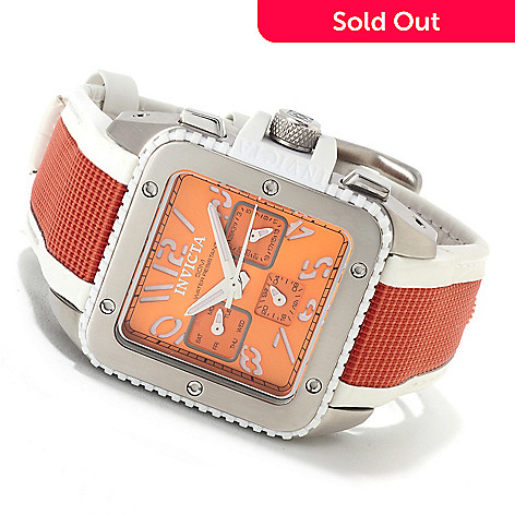 622-680 - Invicta Women's Cuadro Quartz Stainless Steel Leather Strap Watch w/Travel Box