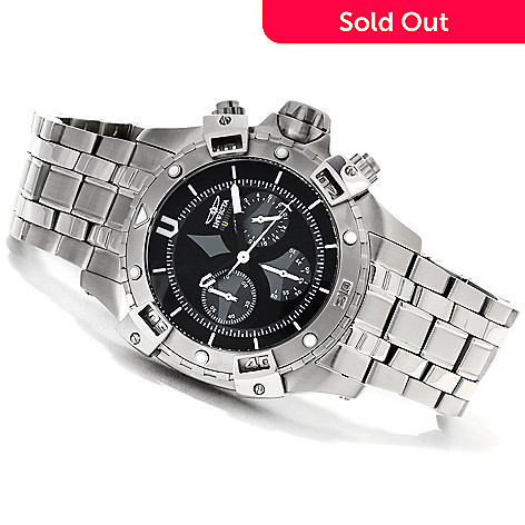 622-686 - Invicta Men's Aviator Quartz Chronograph Bracelet Watch w/Three-Slot Dive Case