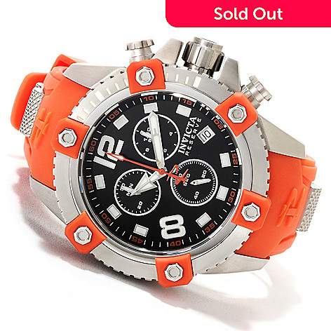 622-701 - Invicta Reserve 48mm Swiss Made Quartz Chronograph Polyurethane Strap Watch w/ Eight-Slot Dive Case