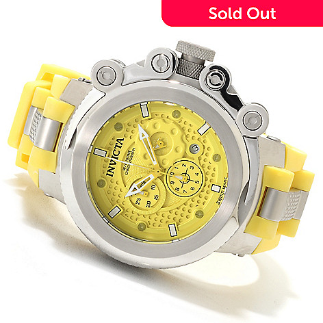 622-702 - Invicta Men's Coalition Forces Trigger Swiss Made Chronograph Strap Watch w/Eight-Slot Dive Case