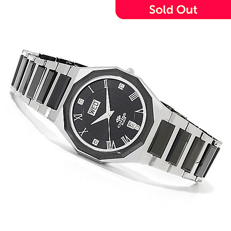 622-708 - Oniss Women's Arte Swiss Quartz Stainless Steel & Tungsten Bracelet Watch