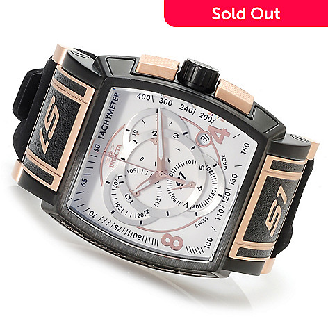 622-739 - Invicta Men's S1 Touring Edition Swiss Made Quartz Chronograph Alcantara Strap Watch