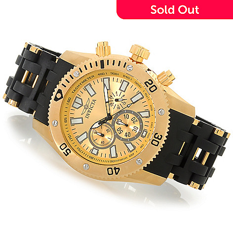 622-777 - Invicta 48mm Sea Spider Quartz Chronograph Stainless Steel Polyurethane Bracelet Watch