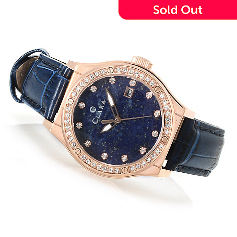 622-794 - Clara by CW Women's Quartz Strap Watch Made w/ Swarovski® Elements
