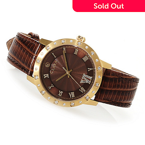 622-795 - Clara by CW Women's Quartz Strap Watch Made w/ Swarovski® Elements