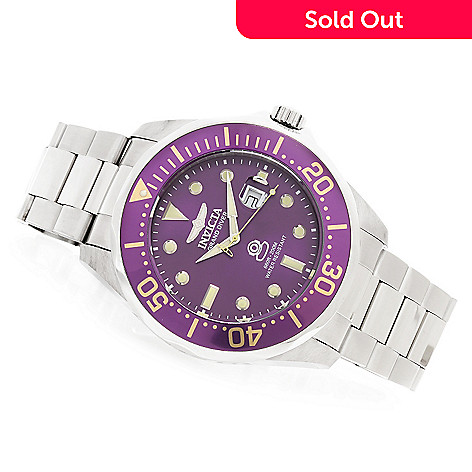 622-805 - Invicta 54mm Grand Diver Quartz Bracelet Watch w/ Eight-Slot Dive Case