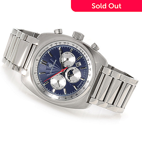 622-832 - Constantin Weisz Men's Automatic Multifunction Stainless Steel Bracelet Watch