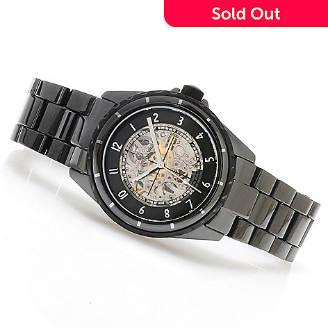 622-841 - Constantin Weisz Men's Automatic Skeletonized Ceramic Bracelet Watch
