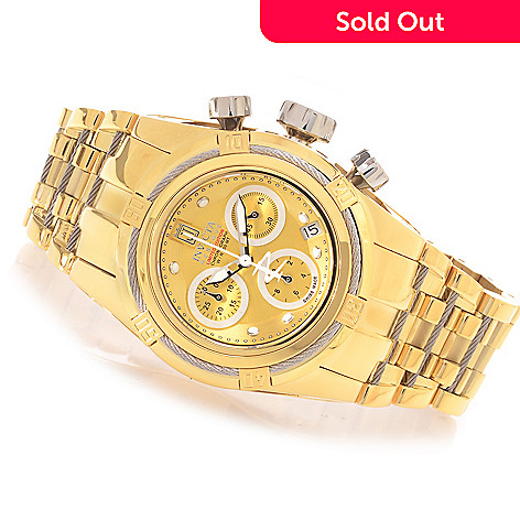 622-846 - Invicta Reserve Women's Jason Taylor Bolt Zeus Swiss Chronograph Bracelet Watch w/ 3-Slot Dive Case