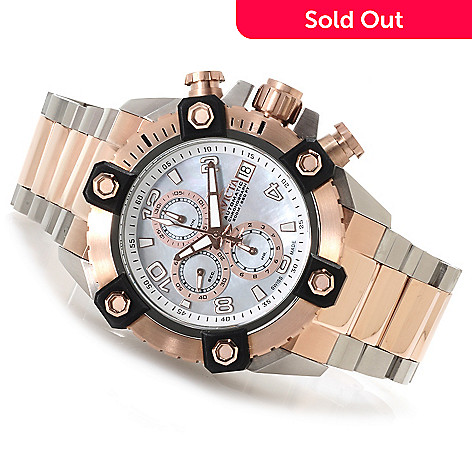 622-863 - Invicta Reserve Grand Arsenal A07 Automatic Chronograph Bracelet Watch w/Three-Slot Dive Case