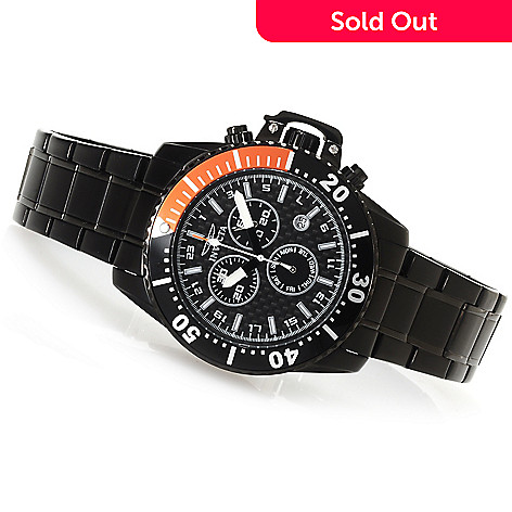 622-909 - Invicta Men's Pro Diver Quartz Chronograph Bracelet Watch w/Eight-Slot Dive Case
