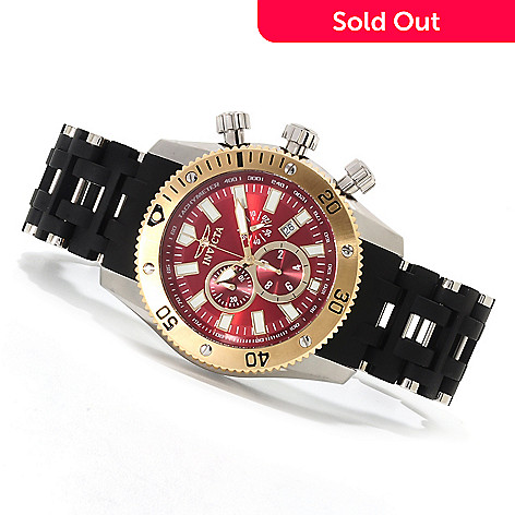 622-915 - Invicta 50mm Sea Spider Quartz Chronograph Stainless Steel Polyurethane Bracelet Watch