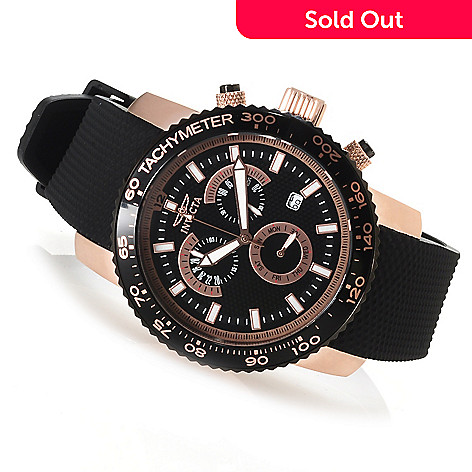622-920 - Invicta Men's Specialty Quartz Chronograph Polyurethane Strap Watch w/Three-Slot Dive Case