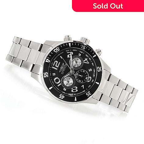 622-921 - Invicta 45mm Pro Diver Quartz Chronograph Bracelet Watch w/ Eight-Slot Dive Case