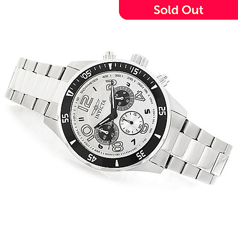 622-922 - Invicta Men's Pro Diver Quartz Chronograph Bracelet Watch w/ Eight-Slot Dive Case