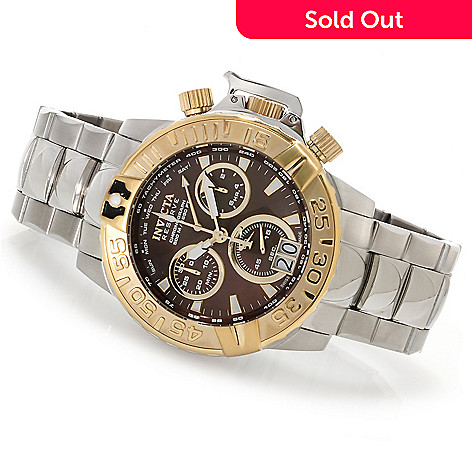 622-930 - Invicta Reserve Subaqua Noma II Swiss Made Quartz Chronograph Bracelet Watch w/Three-Slot Dive Case
