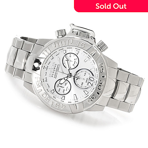622-932 - Invicta Reserve Subaqua Noma II Swiss Made Quartz Chronograph Bracelet Watch w/Three-Slot Dive Case