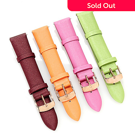 622-934 - Stührling Original Women's Amour Set of Four 18mm Leather Straps