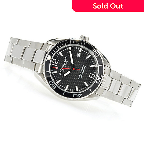 622-937 - Stührling Original Original Men's Regatta Quartz Stainless Steel Bracelet Watch