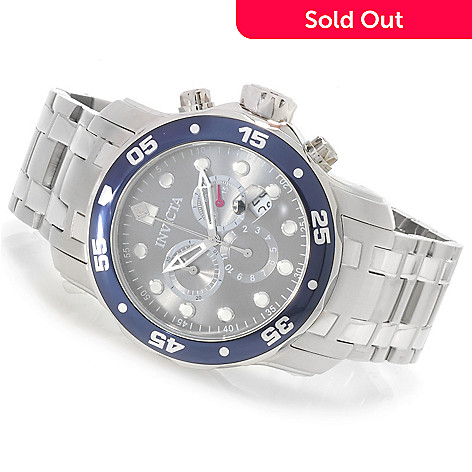 622-948 - Invicta Men's Pro Diver Scuba Quartz Chronograph Stainless Steel Bracelet Watch