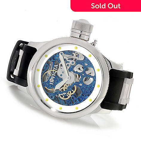 622-954 - Invicta Men's Russian Diver Mechanical Stainless Steel Polyurethane Strap Watch