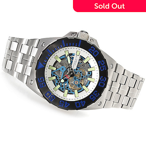 622-960 - Android 48mm Corsair Limited Edition Automatic Skeleton Stainless Steel Bracelet Watch