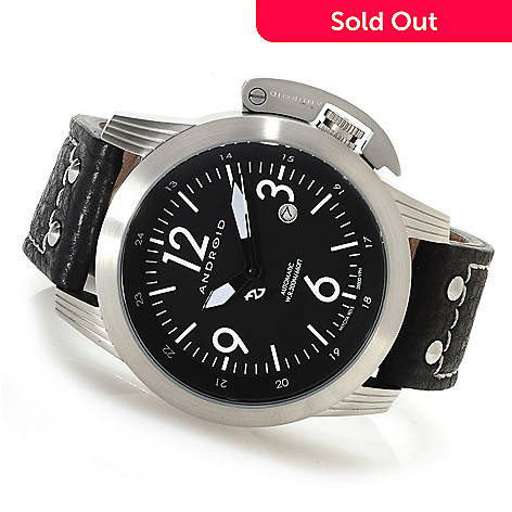622-966 - Android 48mm Skyguardian Automatic Leather Strap Watch