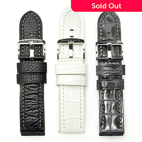 622-970 - Android Set of Three 24mm Leather Straps