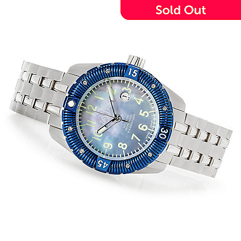 622-972 - Zavtra 48mm T-37 Sea to Land Automatic Mother-of-Pearl Stainless Steel Bracelet Watch