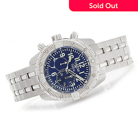 622-976 - Zavtra 48mm T-37 Air to Ground Quartz Chronograph Stainless Steel Bracelet Watch