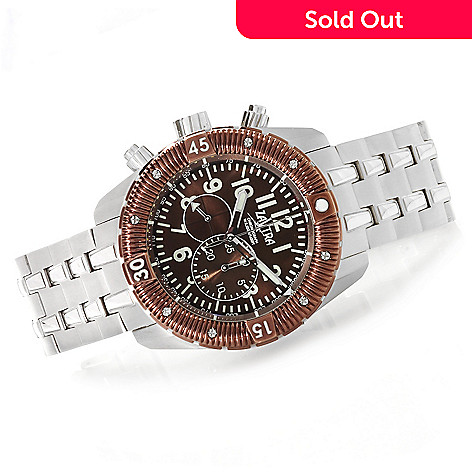 622-977 - Zavtra 48mm T-37 Air to Ground Quartz Chronograph Stainless Steel Bracelet Watch