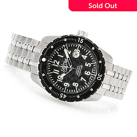 622-979 - Zavtra Men's T-37 Sea to Land Limited Edition Automatic Stainless Steel Bracelet Watch