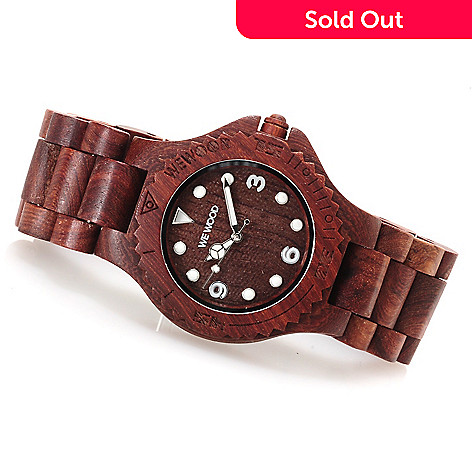 623-001 - WeWOOD 42mm ''Aludra'' Quartz Wooden Bracelet Watch
